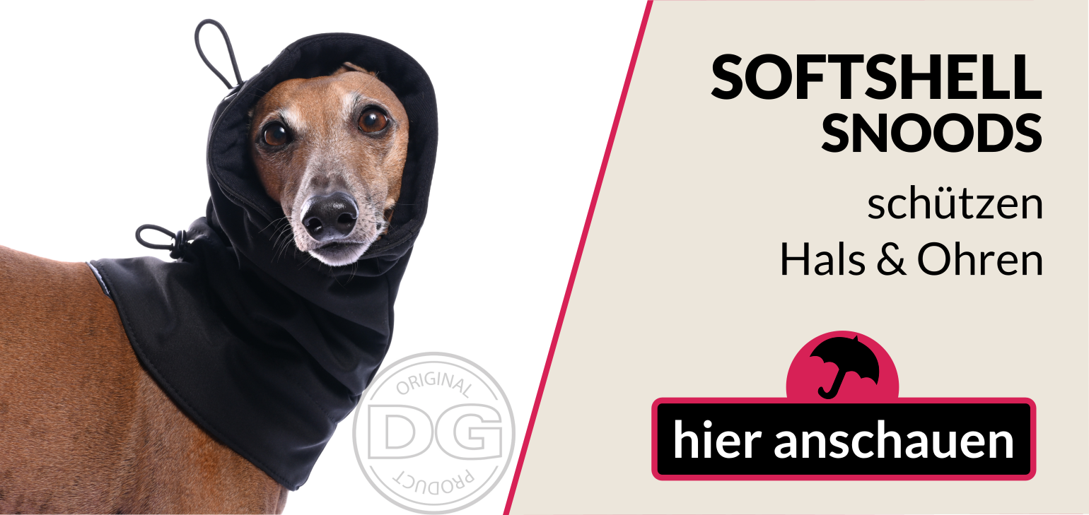 Hundeschal, Windhund, snood