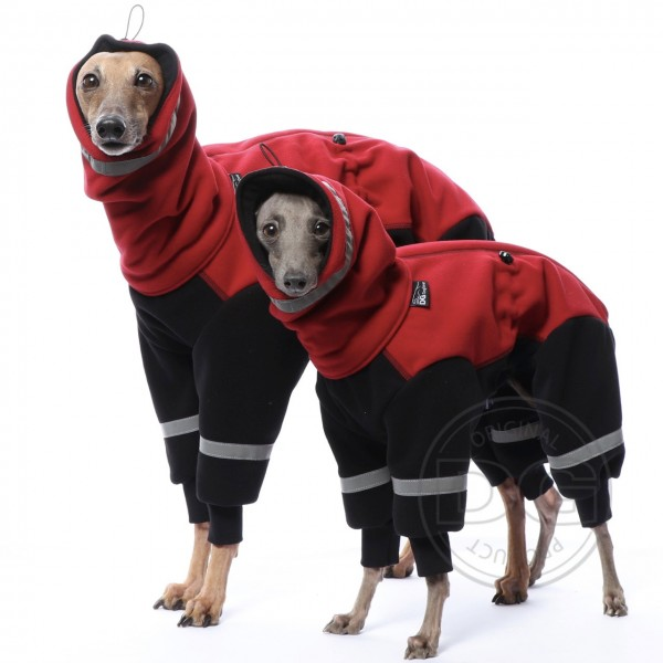 Overall Ninja Fleece - dunkelrot