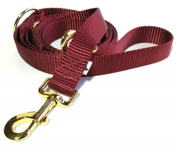 Hundeleine Nylon burgundy