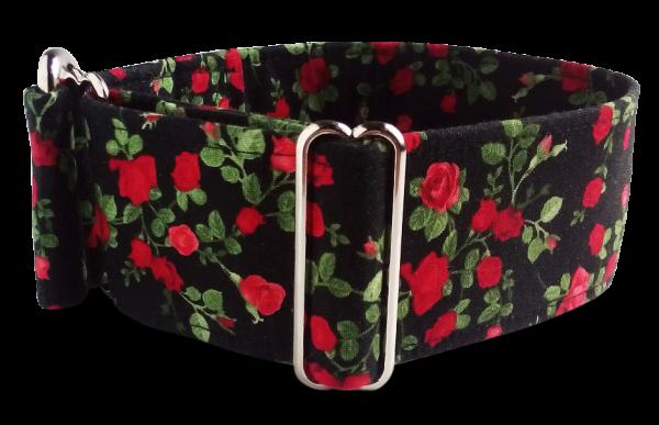 Hundehalsband Rosen mit Leine