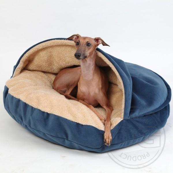Hundebett extra soft blau