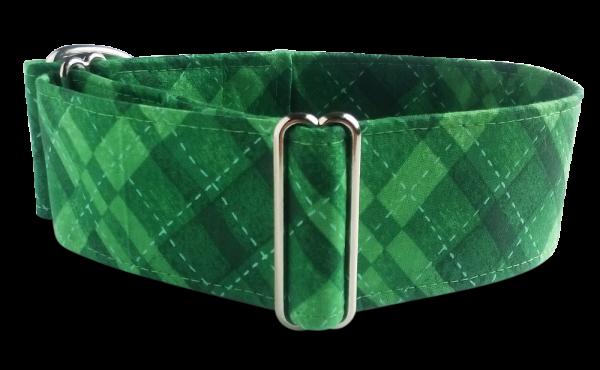Hundehalsband grün, kariert