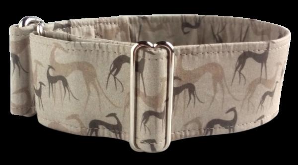 Hundehalsband Windhund khaki