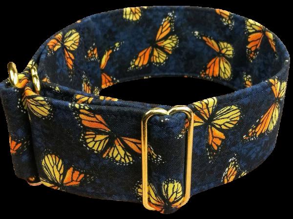 butterfly blue, Zugstopp / 5cm / gold