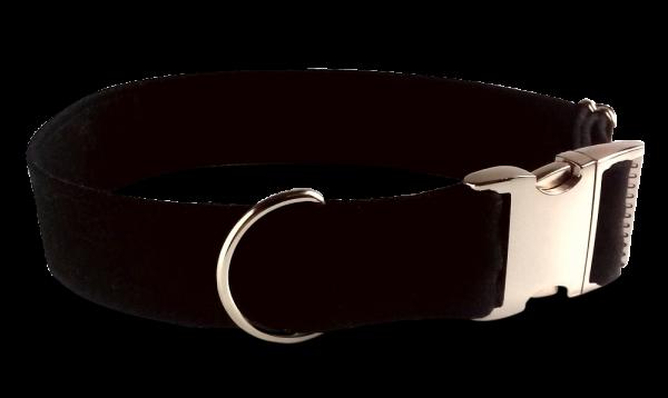 solid black, 4cm Alu- Steckschließe