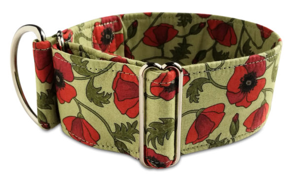 poppies carmine, Martingale 5cm