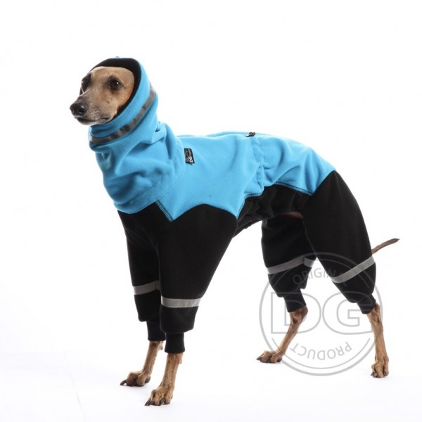 Overall Ninja Fleece - signalblau