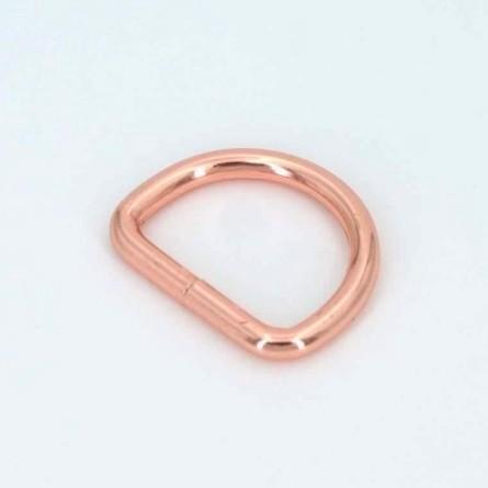 D- Ring, 25mm, rosé glänzend