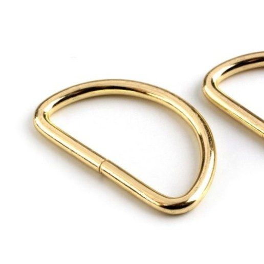 D- Ring 50mm, gold