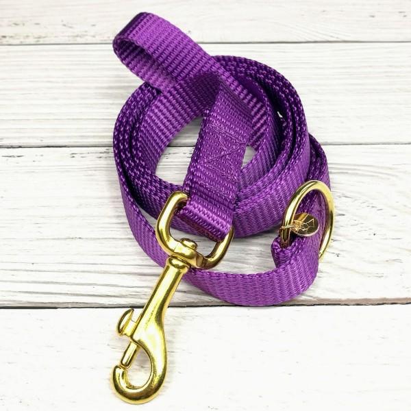 Nylonleine violett / 2cm / gold