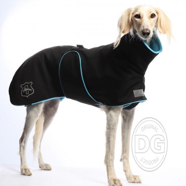 Basic Plus Jacke schwarz/ türkis