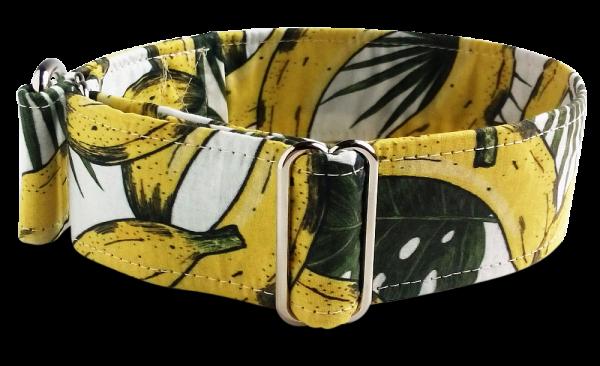 Hundehalsband Bananen, Martingale 4cm