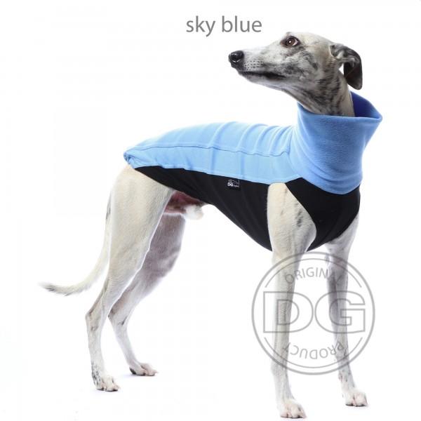 DG   Fleece-Shirt sky blue