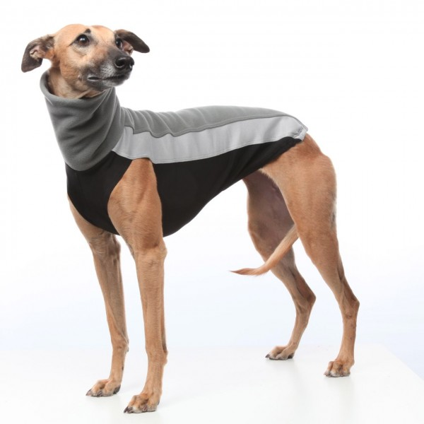 Doggear Fleecetop grau