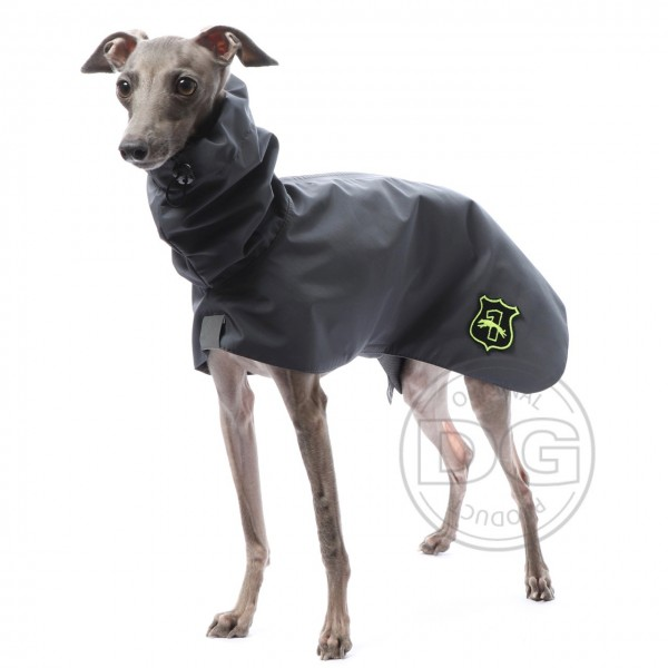 Regenmantel Windhund grau