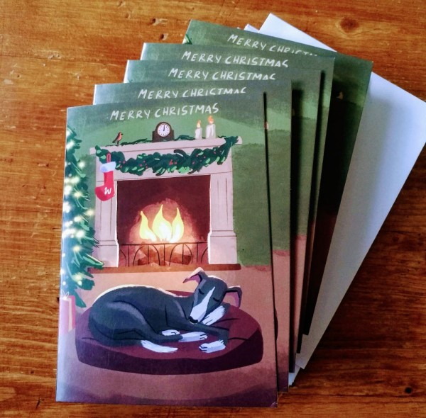 """Weihnachtskarte """"Am Kamin"""""""